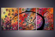 Paint along ideas tree paintings / by Torri Bates Janzen