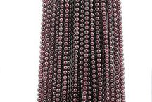 Garnet Beads I Love / Jewelry makers enjoy natural and genuine red garnet beads. Beacab Gems Inc offer Garnet beads in various shapes and sizes such as faceted, rectangle and smooth. Garnet is birthstone of January. / by Beacab Gems