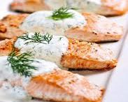 """In the Kitchen: Fish & Seafood / """"...Most seafoods...should be simply threatened with heat and then celebrated with joy."""" --Jeff Smith (The Frugal Gourmet) / by Michele Phillips ~ BlissAccomplished"""