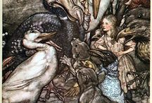 Illustrator:   Arthur Rackham / Arthur Rackham is widely regarded as one of the leading illustrators from the 'Golden Age' of British book illustration which encompassed the years from 1900 until the start of the First World War.   Rackham's work is often described as a fusion of a northern European 'Nordic' style strongly influenced by the Japanese woodblock tradition of the early 19th century. / by Patricia Parden