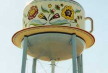 hydrants & water towers / by Brenda K. Campbell