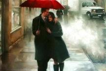 Red umbrella / by Lynn Hite