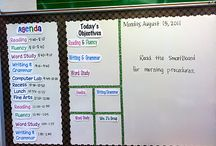 Teaching-Organized / Things that will help me stay organized in the classroom (whiteboard organization, lists, and lesson planning templates)  / by Meli Mel
