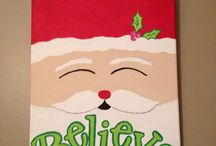 Christmas Canvases / Ideas for painting Christmas Canvases for gifts. / by Jenny S.