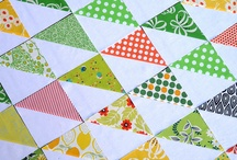 quiltin' / my first quilt: http://papercuthearts.wordpress.com/2011/07/14/what-im-up-to-my-first-quilt ! / by ania