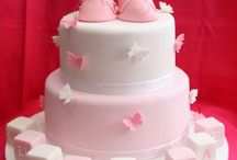 christening cakes / by Fancy Fondant Cakes by Emily Lindley