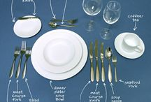 HOW TO SET A TABLE / by Tulay Rashid