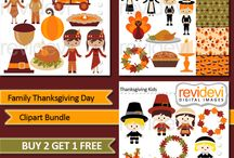 Thanksgiving Illustrations, Patterns and Backgrounds / by Mygrafico Digitals