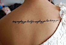 Tattoos / by Jordan Lewis
