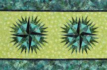 Compass Rose Table Runner / For more information about the Compass Rose Table Runner patter, visit http://www.quiltworx.com/patterns/compass-rose-table-runner/. To be taken directly back to this pattern page on Quiltworx.com, simply click on any of the images below.  / by Quiltworx Judy Niemeyer