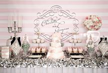 Silver & Pink Wedding Table / by Cristy Mishkula @ Pretty My Party