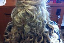 hair updos / by Tina D'Arco