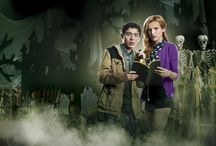 R.L. Stine's Mostly Ghostly: Have You Met My Ghoulfriend? / Young magician Max (Ryan Ochoa) and his ghostly pals Tara (Madison Pettis) and Nicky (Roshon Fegan) are still searching for the siblings' missing parents while trying to evade Phears, the evil spirit responsible for their disappearance, and his frightful ghoulfriend. As Tara and Nicky give Max a supernatural hand in negotiating middle school, he tries to help them foil Phears' terrifying plot to gain dominion over the world. But can they stop him before their Halloween deadline?  / by Universal Studios Entertainment