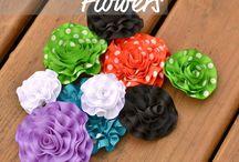 Ribbon Flowers / by Adriana