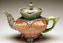 Pottery tea pots / by Leona Fowler