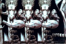 H.R. Giger / Please be aware this has some adult themes! / by Caroline Murphy