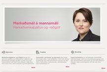 Markaðsmál á mannamáli / by Thoranna Jonsdottir