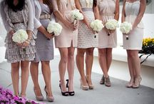 Mis-matched Bridesmaid dresses / by Becky Paul