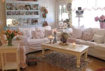 Family Rooms / Cottage style family rooms, shabby chic family rooms, vintage style family rooms Follow me on Instagram@bloominginchintz / by Rahna Summerlin