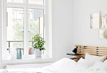 & B E D R O O M / interior design with lots of bright white modern furniture with strong graphic accents and a Scandinavian vibe.  / by Sophi Deinum