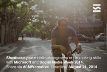 Are you a mobile photographer or filmmaker? #SMWcreative / Microsoft will select 1 winner who will have their work seen and displayed across the eleven cities hosting Social Media Week this September 2014 - from Miami to Johannesburg, São Paulo to Berlin.  What are you waiting for? Find out more and submit your work here: tlnt.at/SMWcreative  Don't miss out! SUBMIT BY: August 21st, 2014 / by Talenthouse