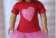 AG DOLL HOLDIDAYS OUTFITS- VALENTINES DAY / by Audrey Overbaugh