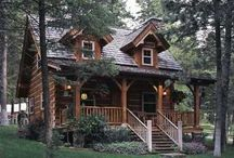 Cabins, Log Cabins,Log Homes and Rustic Homes / by Pat Nall McBurnett