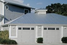 Raynor Innovations Series  / Innovations Series steel garage doors provide the ultimate in safety, quality, and energy efficiency in a steel, three-layer construction door design. The Innovations Series features Raynor's patented Finger Protection System, not found in standard steel garage door lines and mix and match panel designs. / by Raynor Garage Doors
