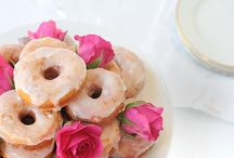 Scrumptious Roses / Desserts with edible roses. / by Melanie Barnett