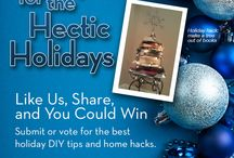 Home Hacks: 2013 Holiday Giveaway! / Best House Hacks for the Hectic Holidays  We want to know, what things make your life easier around the holidays? Chamberlain wants to find the most creative house hacks and DIY tips that are helping ease the chaos during the busy holiday season. / by Chamberlain