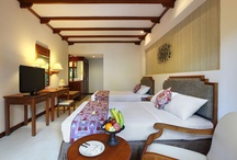 Rooms / Wake up to the rhythm of the waves and sounds of the oceans in your comfortable bed, surrounded by exotic wooden furniture, tropical Balinese design and the warm Balinese Hospitality / by Bali Mandira
