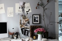 work space / by Nicole Hill- My Darling Clementine