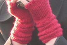 Knit arm warmers/gloves / by Helen Mahan