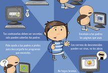 Comunicación y colaboración (Redes sociales e identidad digital) / Tablero colaborativo elaborado por los alumnos del curso Competencia Digital Docente Básico I / by maru domenech