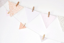 Craft: Banners+Buntings / Banner, buntings, oh my! Spruce up any space with a little fabric or scrapbook paper! / by Lolly Jane {lollyjane.com}
