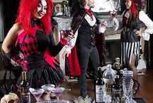 Black & Bone Halloween Party Ideas / Summon your grown-up goblins to a bewitching Black & Bone gathering! Fill up the party room in gothic charm from black & white decorations to wicked-good sippers for a spooky soiree amongst ghouls!  / by Party City