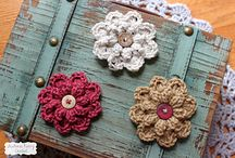 Crochet flowers and hearts / by Chris Diane Lynn