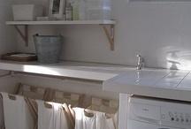 basement laundry room / by Kathryn Humphreys