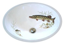 Hand Painted Sinks - Animals & Nature / Add a little animal magnetism to your next bathroom renovation with one of our Animal & Nature design painted sinks. Gorgeous colors and beautifully painted motifs make these sinks a great addition to the bathroom or powder room. Designs can be applied to drop-in, under mount, pedestal and vessel sinks and are kiln-fired for lasting durability. / by Decorated Bathroom