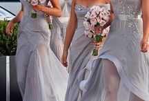 elegant and gorgeous bridemaids dress ,shoes and makeup / by Martha Wango