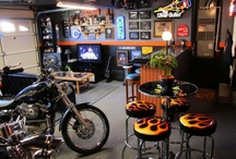 Garage man cave / by Margo Reid