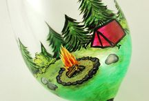 glass painting ideas / by Peaceful Day