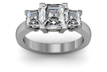 Asscher Cut Engagement Rings / by DIAMOND MANSION CO. Unique Engagement Rings