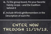 FirstLight Remembers Thanksgiving / What's your favorite Thanksgiving recipe family tradition? Share it with us, and you could win a $75 gift certificate toward groceries for your family feast!   Enter now through 11/19/13. FirstLight guest judges will select the winning recipe on 11/20/13. We'll notify the winning Pinner in the Comments section of their submission Pin. If you have any issues adding Pins to the group board, please email us at Pinterest@FirstLightHomeCare.com.  / by FirstLight HomeCare