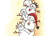 Snowmen / Ideas for snowmen cards / by Joan Wilcockson