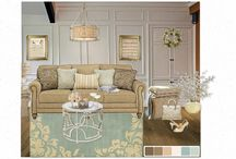 ben moore on olioboard / We wanted to give some prizes to olioboarders that were using our colors to design a room! These are some random selected moodboards we saw in return! / by Benjamin Moore