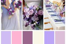 Lilac Wedding Inspiration / Lilac, lavender, dusty gold, champagne, cream, purple, antique silver Clear crystal, dusty metallic, Parisian, chiffon / by Le'Anna Rodgers