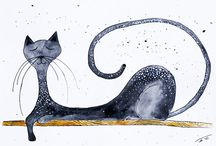 Cats black and white / by Susan Maxwell
