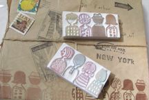 Rubber stamps hand made / by Sara Ferret