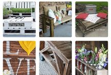Palet Play / Playing with Pallets and making cool creations from them  / by Tiffany Dinwiddie